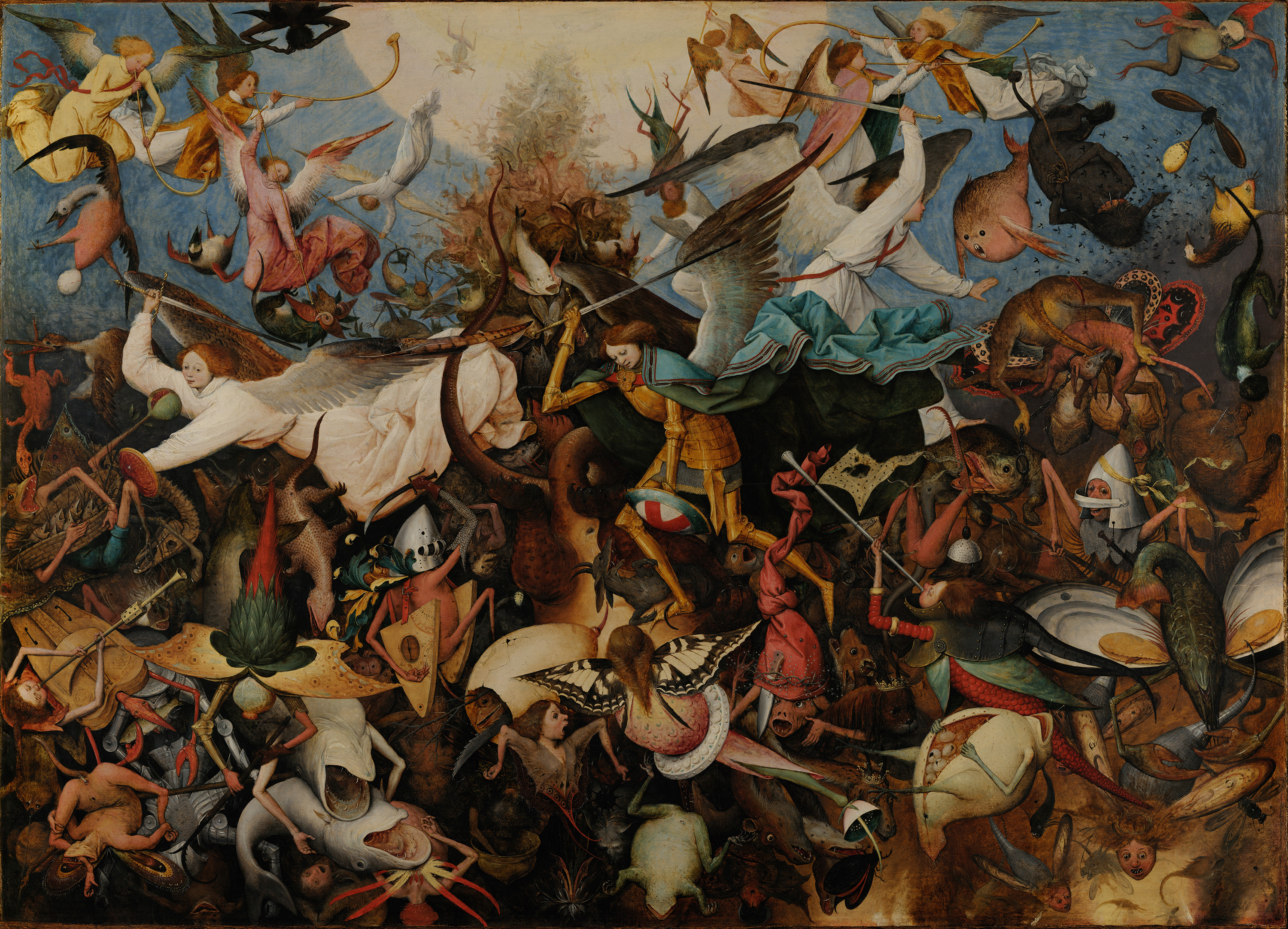 The Fall of the Rebel Angels, 1562 — Pieter Bruegel the Elder,