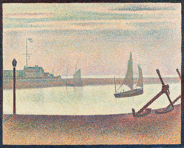 Georges Seurat - The Channel at Gravelines Evening 1890 65.4x81.9cm Museum of Modern Art small