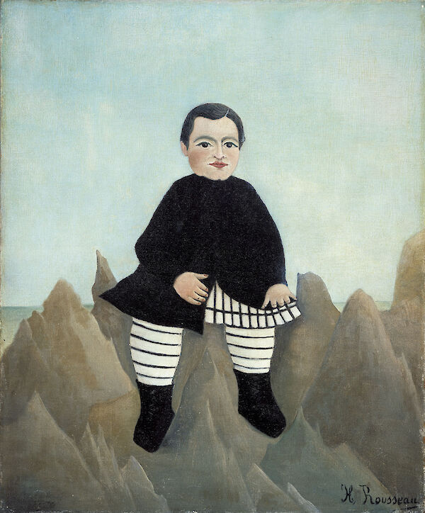 Henri Rousseau - Boy on the Rocks Lenfant aux rochers 1895 1897 55.4x45.7cm National Gallery of Art