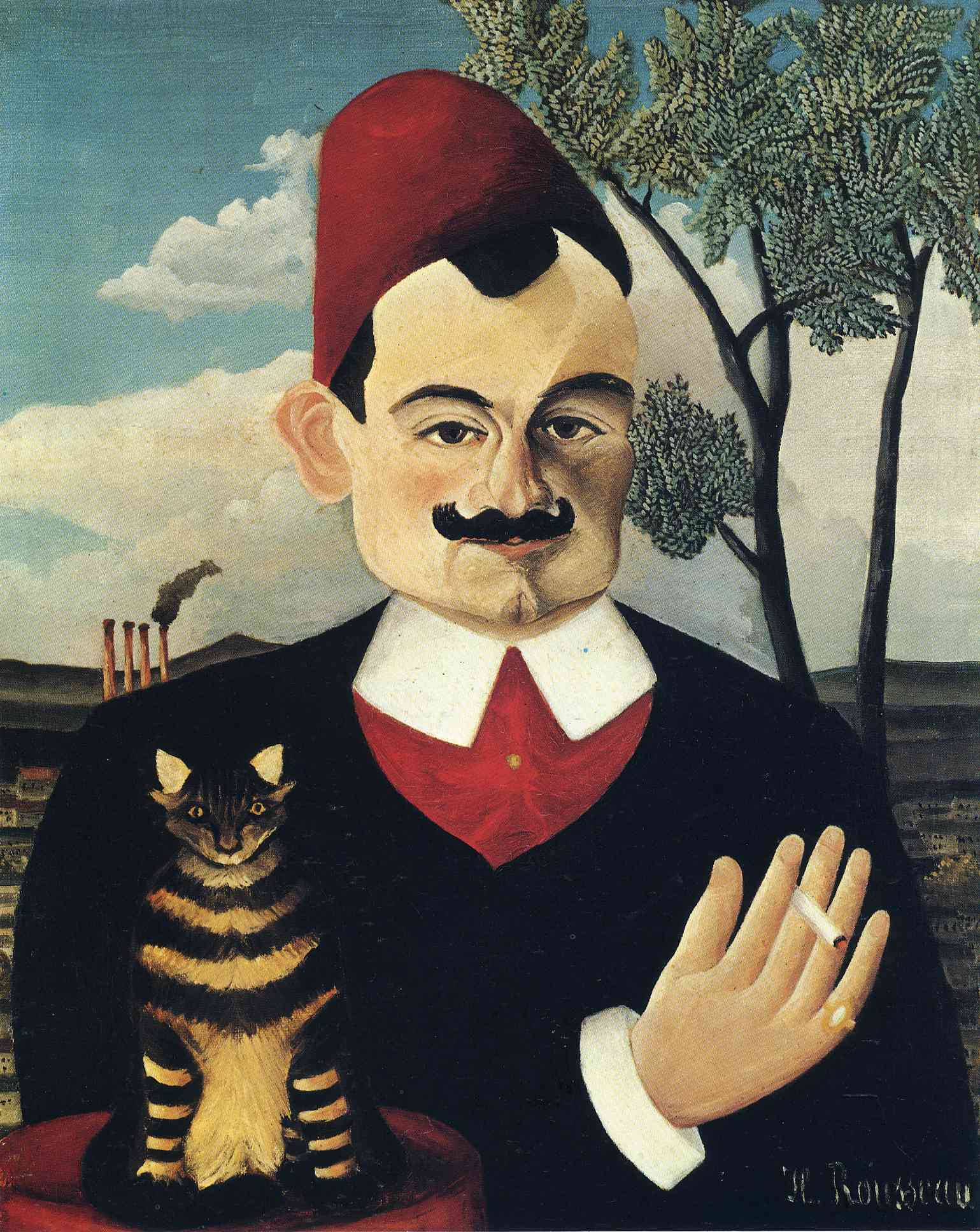 Portrait of Pierre Loti, 1891 — Henri Rousseau