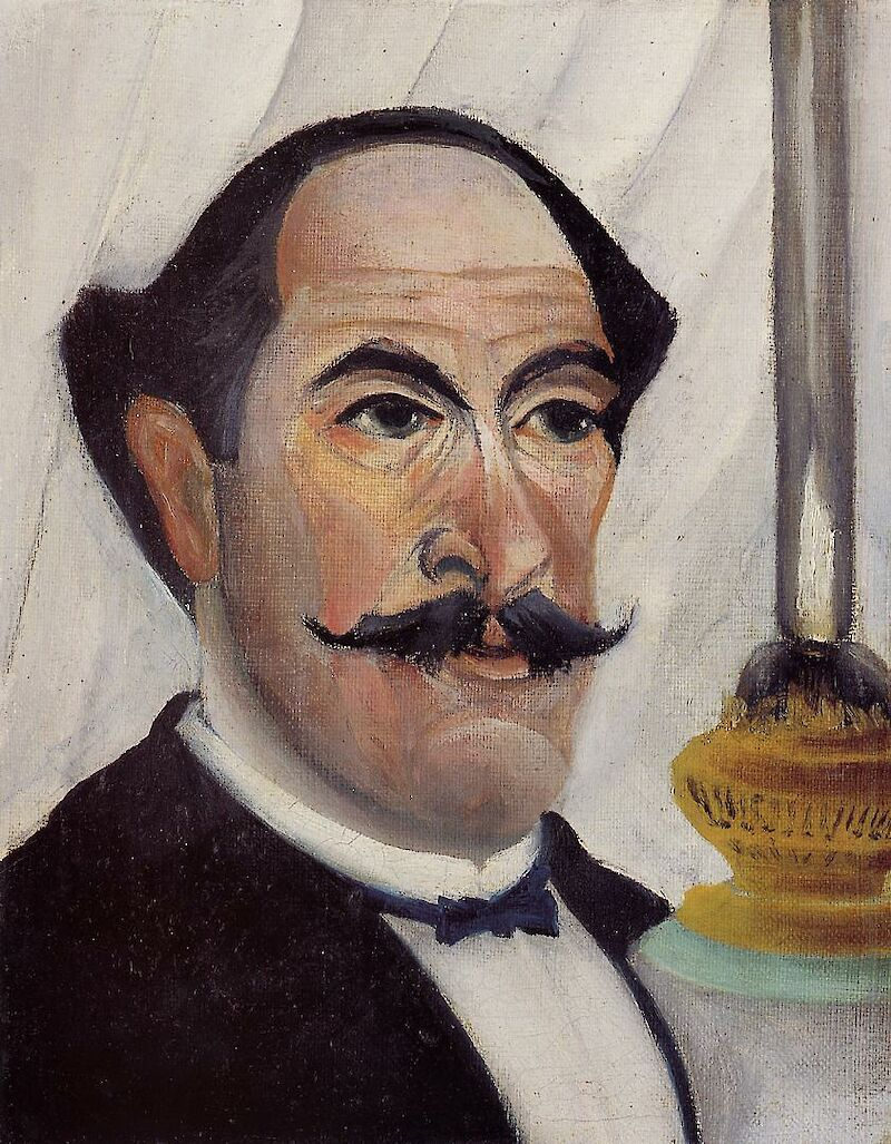 Self-portrait of the Artist with a Lamp