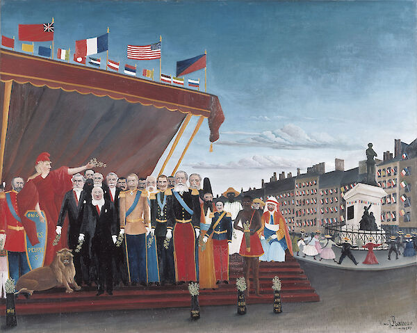 Henri Rousseau - The Representatives of Foreign Powers Coming to Greet the Republic as a Sign of Peace 1907 130x161cm Musee Picasso