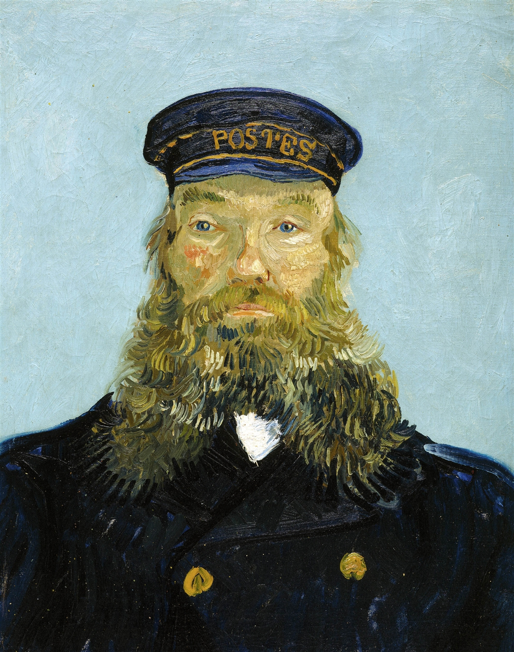 Portrait of the Postman Joseph Roulin, 1888 — Vincent Van Gogh,