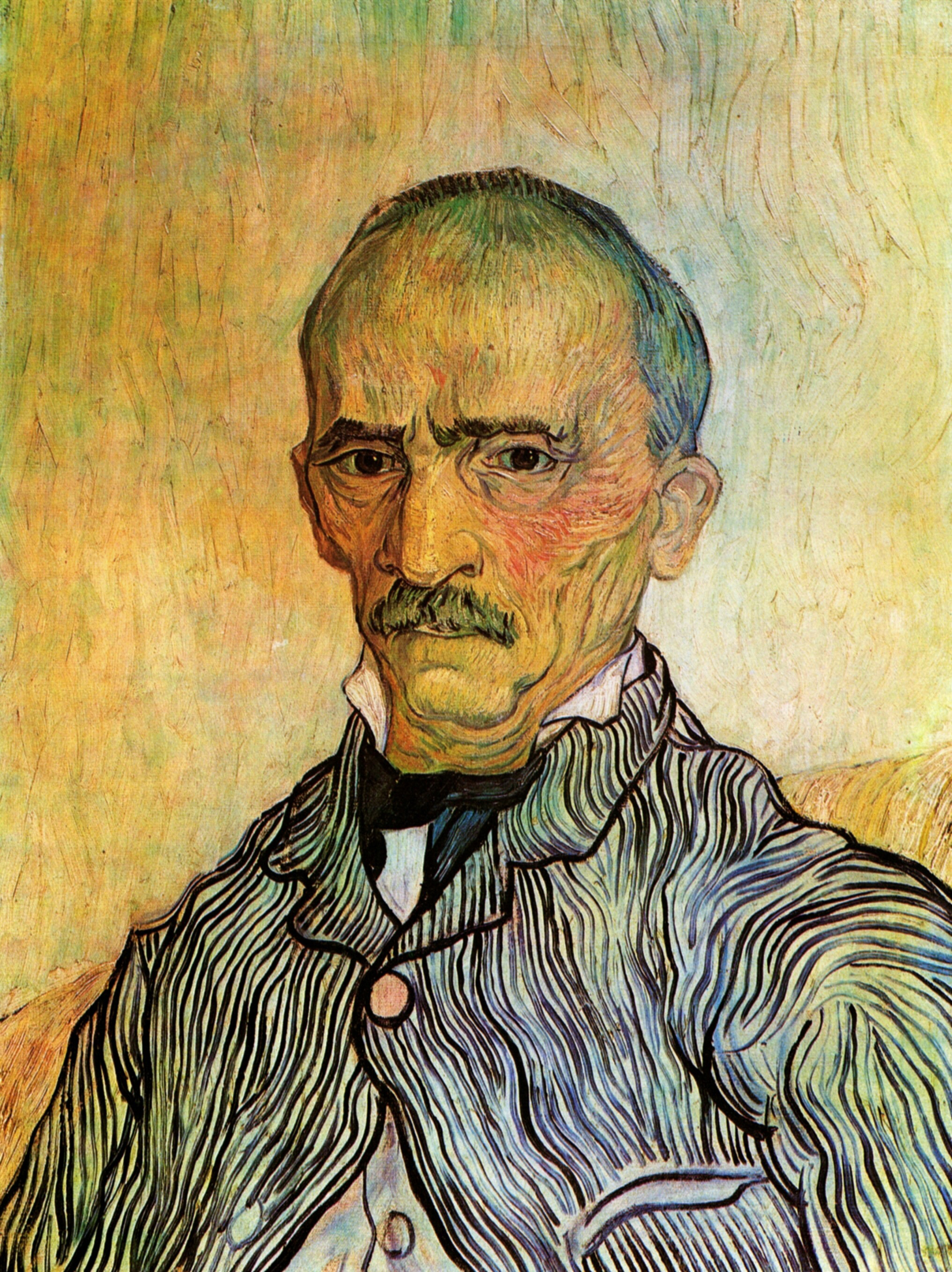 Portrait of Trabuc - Attendant at Saint Paul Hospital, 1889 — Vincent Van Gogh,