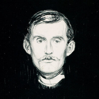 Portrait of Edvard Munch