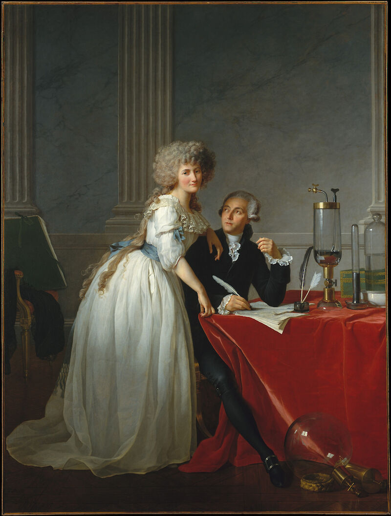 Antoine-Laurent Lavoisier and His Wife, Marie-Anne-Pierrette Paulze.