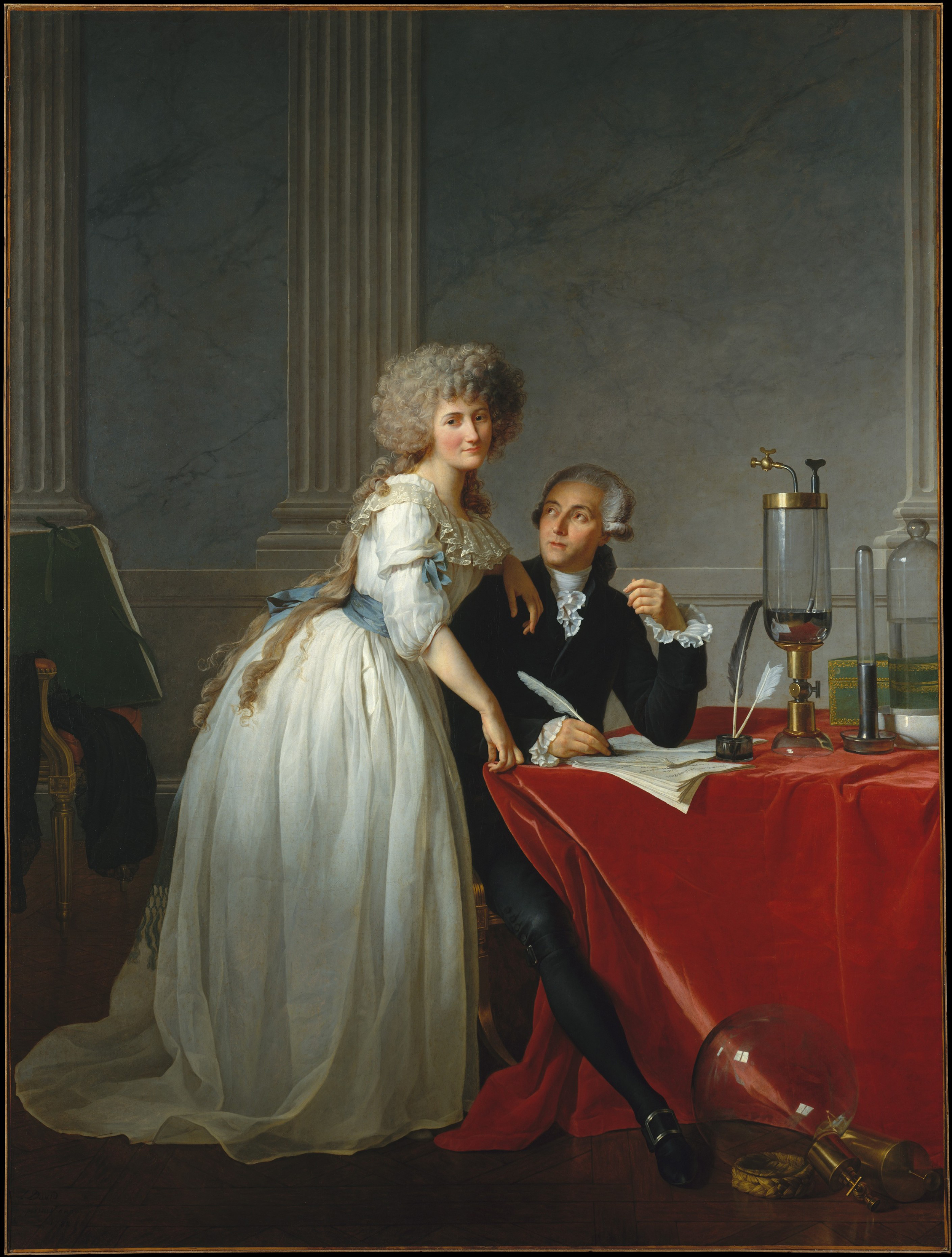 Antoine-Laurent Lavoisier and His Wife, Marie-Anne-Pierrette Paulze., 1788 — Jacques-Louis David, Metropolitan Museum of Art