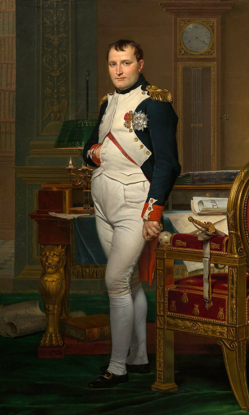 The Emperor Napoleon in His Study at the Tuileries, 1812, Jacques-Louis David