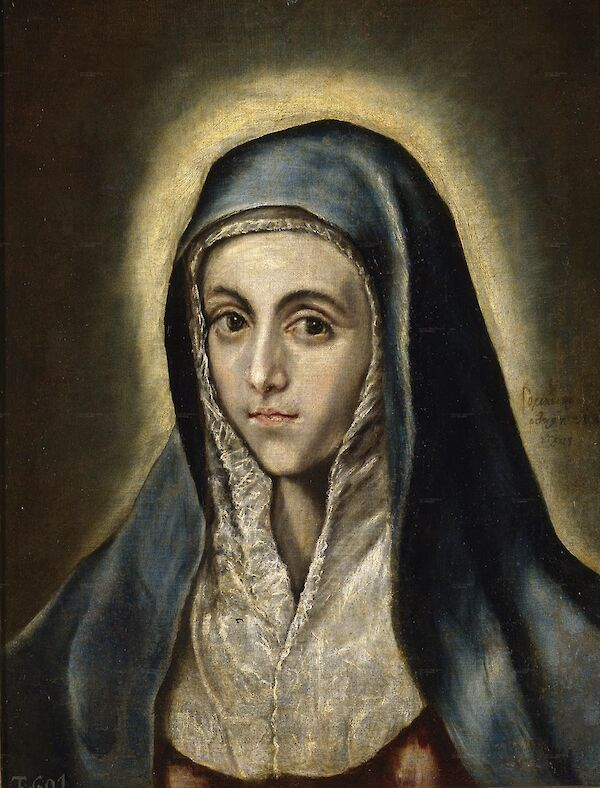 El Greco - The Virgin Mary 1597 52x41cm Museo del Prado P00829