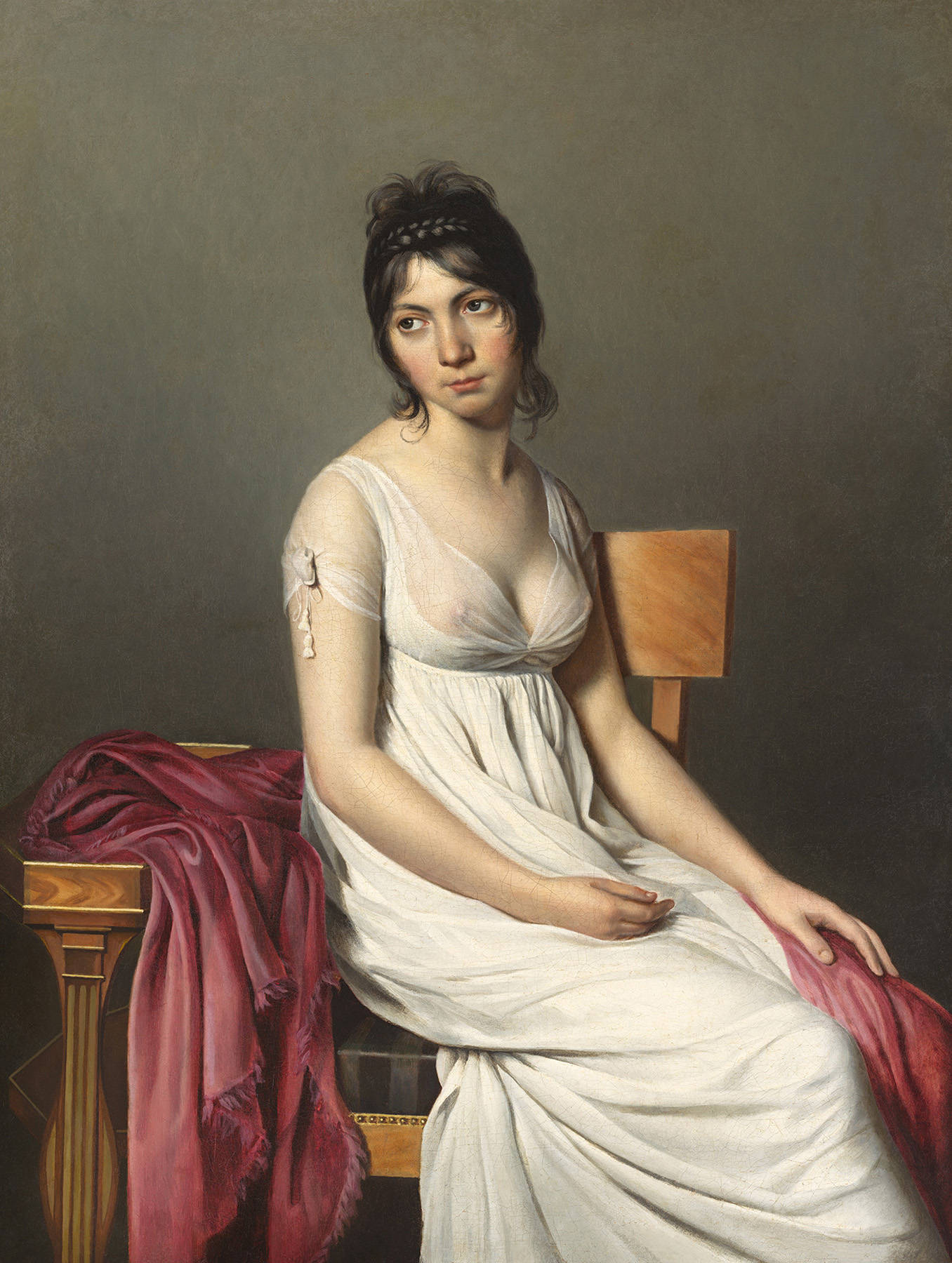 Portrait of a Young Woman in White, 1798 — Jacques-Louis David