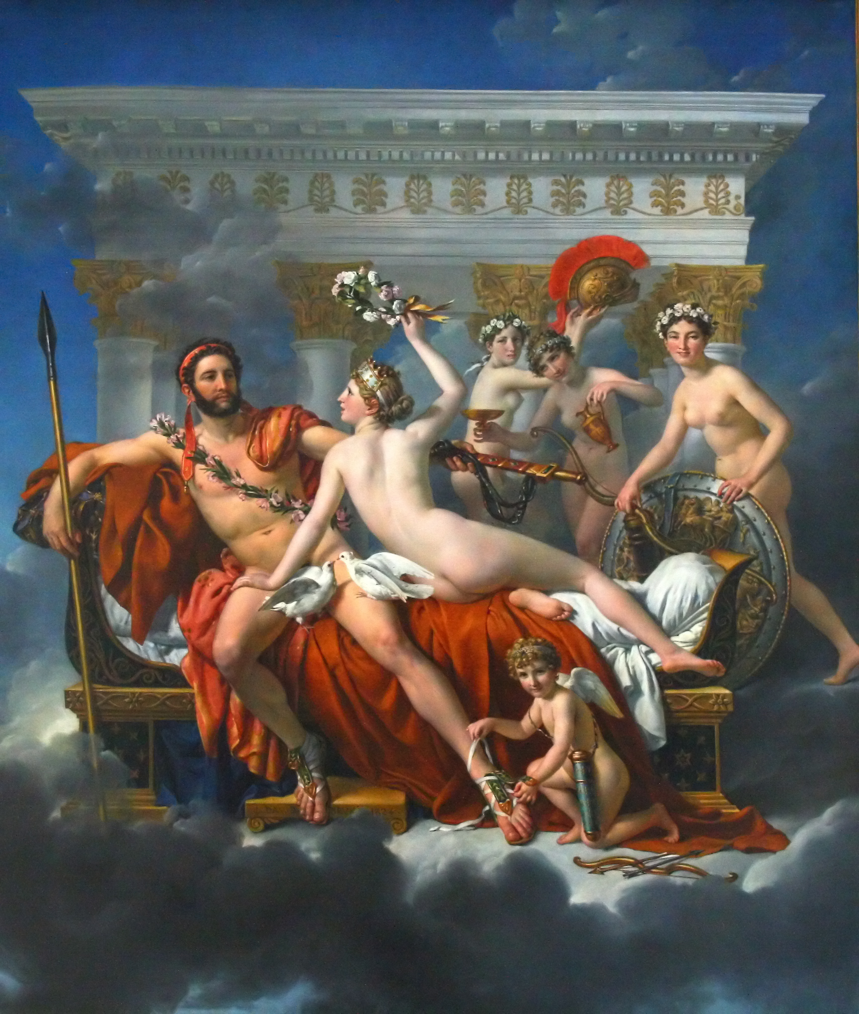 Mars Disarmed by Venus and the Three Graces, 1824 — Jacques-Louis David