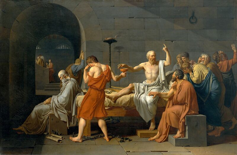 The Death of Socrates, 1787, Jacques-Louis David