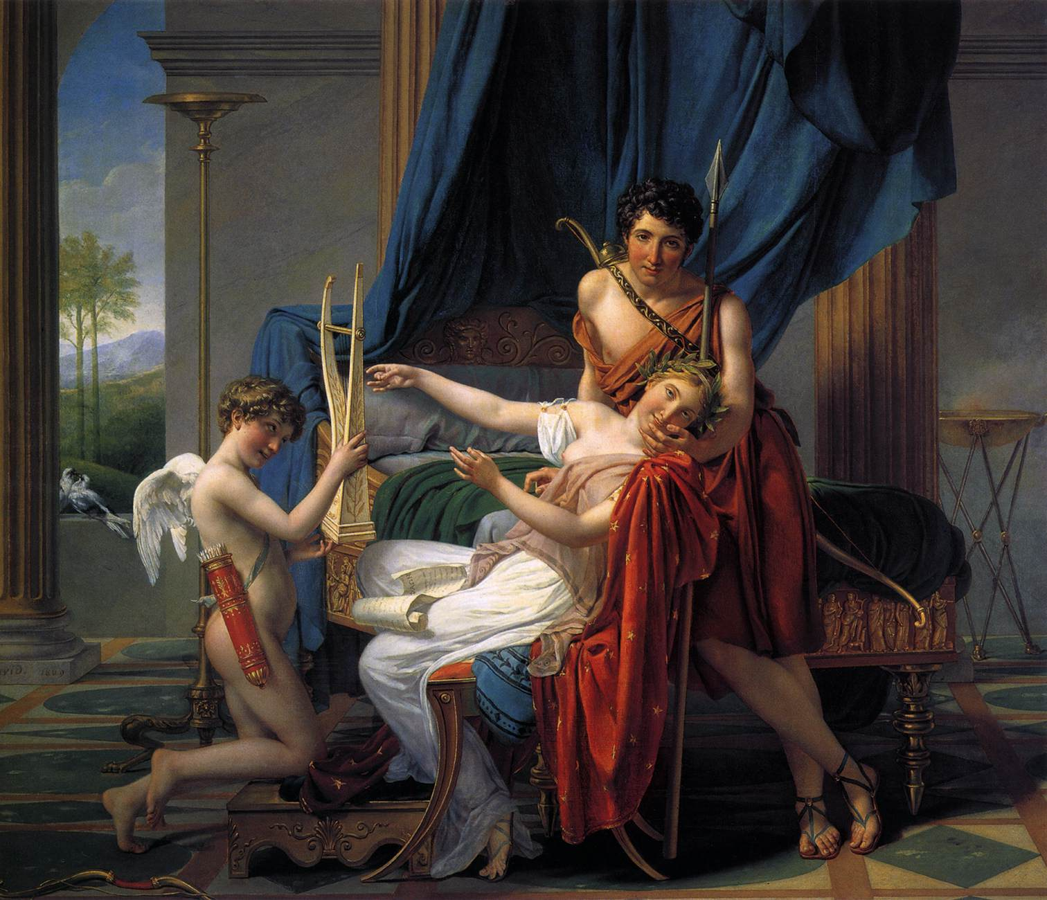 Sappho and Phaon, 1809 — Jacques-Louis David