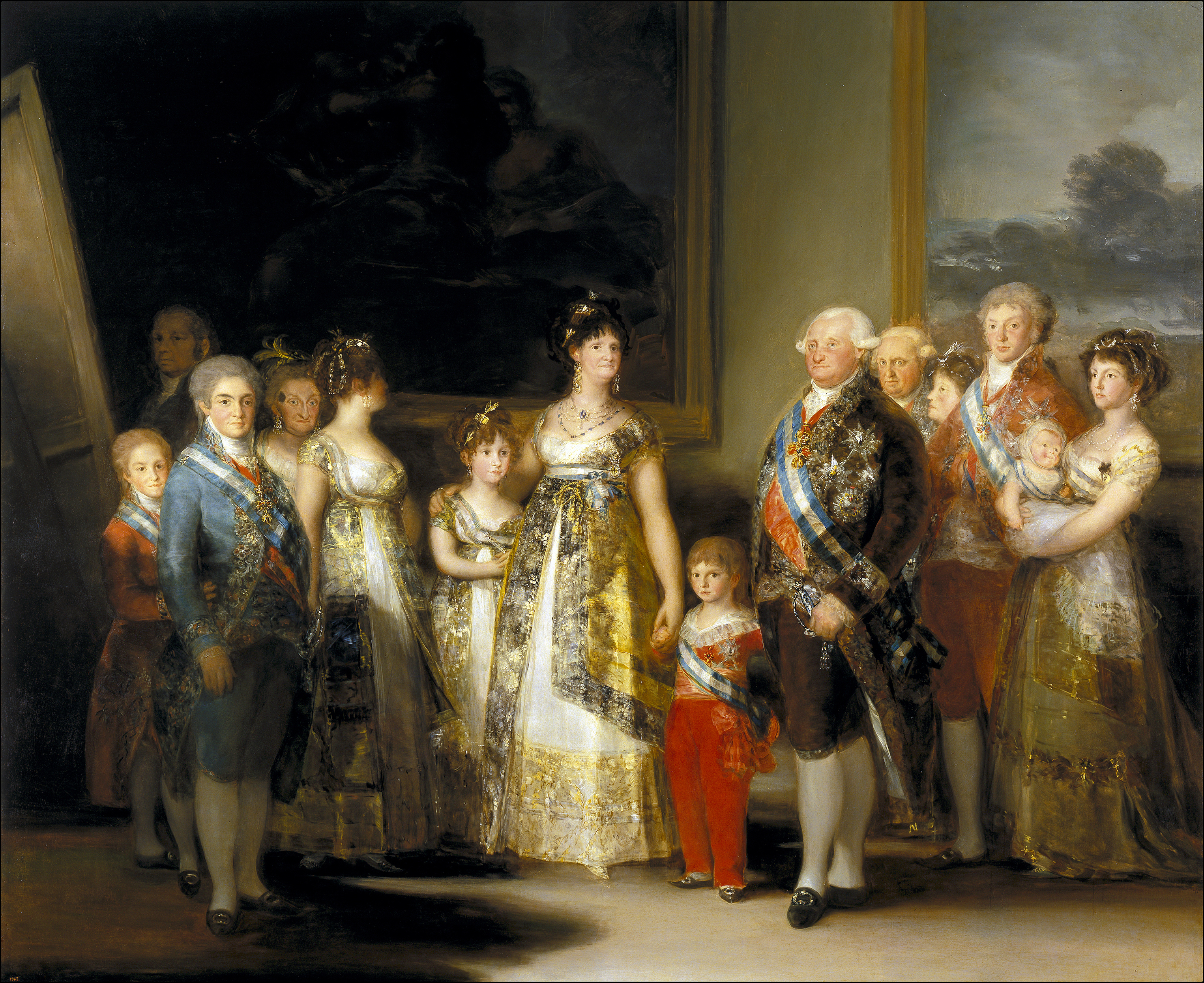 Charles IV of Spain and His Family, 1801 — Francisco de Goya y Lucientes