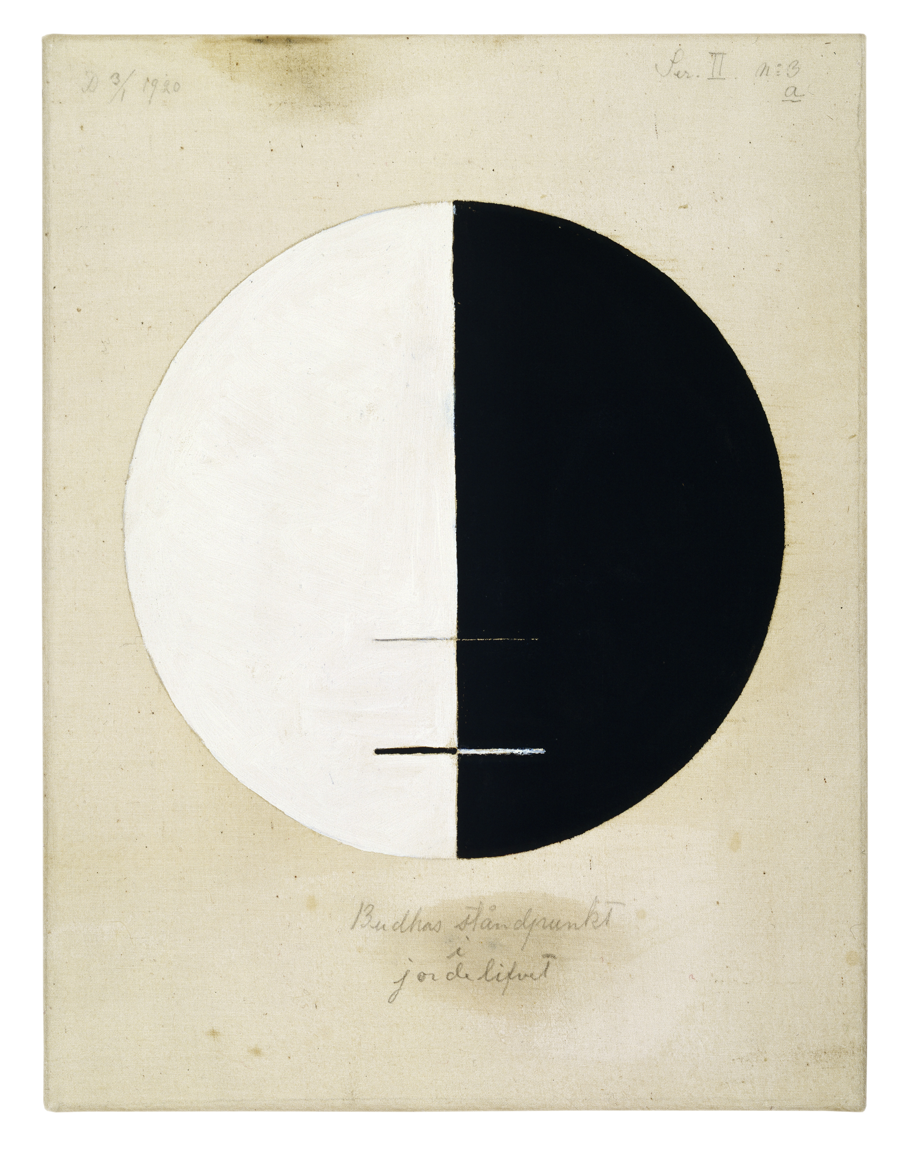 Buddhas Standpoint in the Earthly Life No. 3, 1920 — Hilma af Klint,