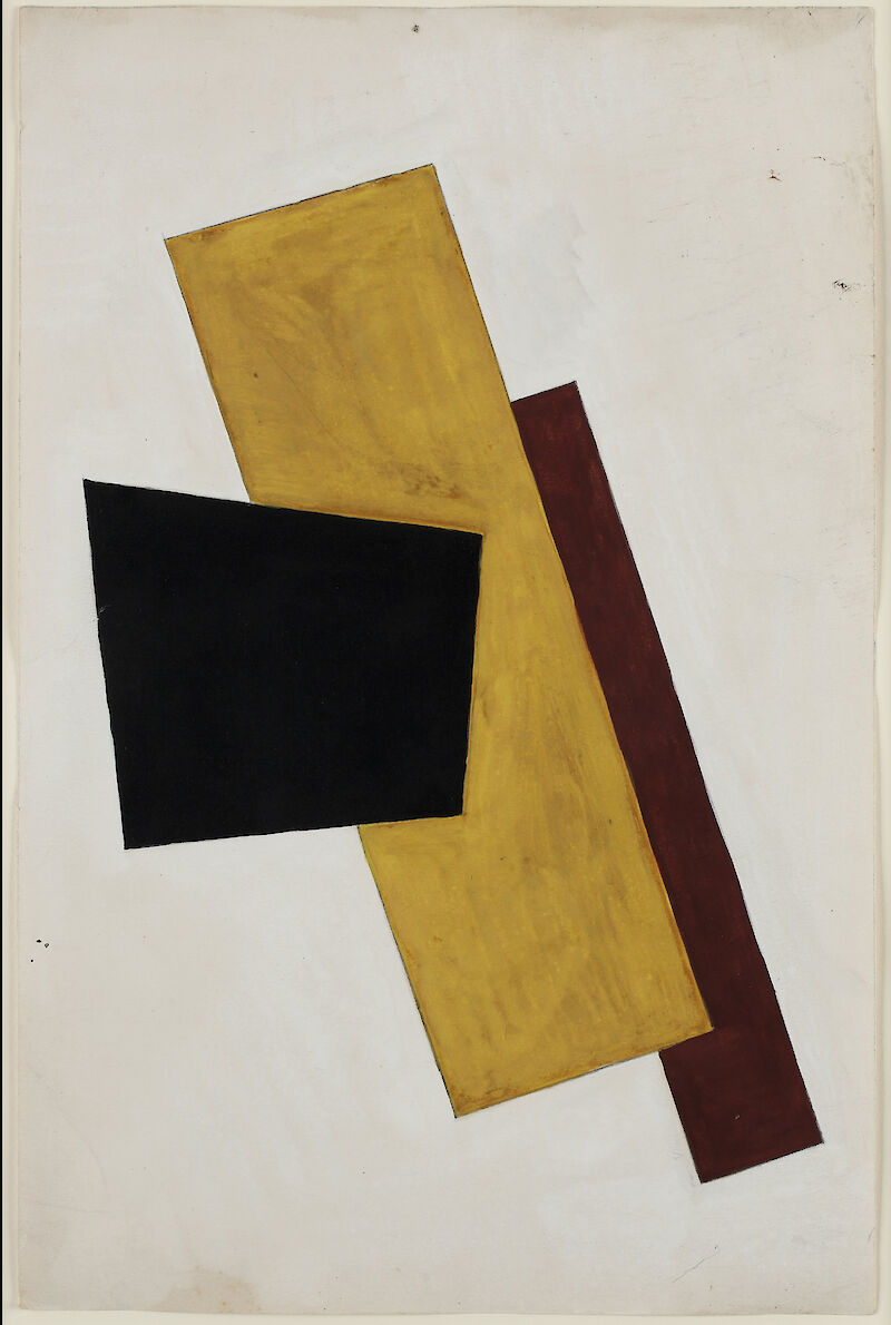 Composition in Black Gold and Brown, 1917, Liubov Popova