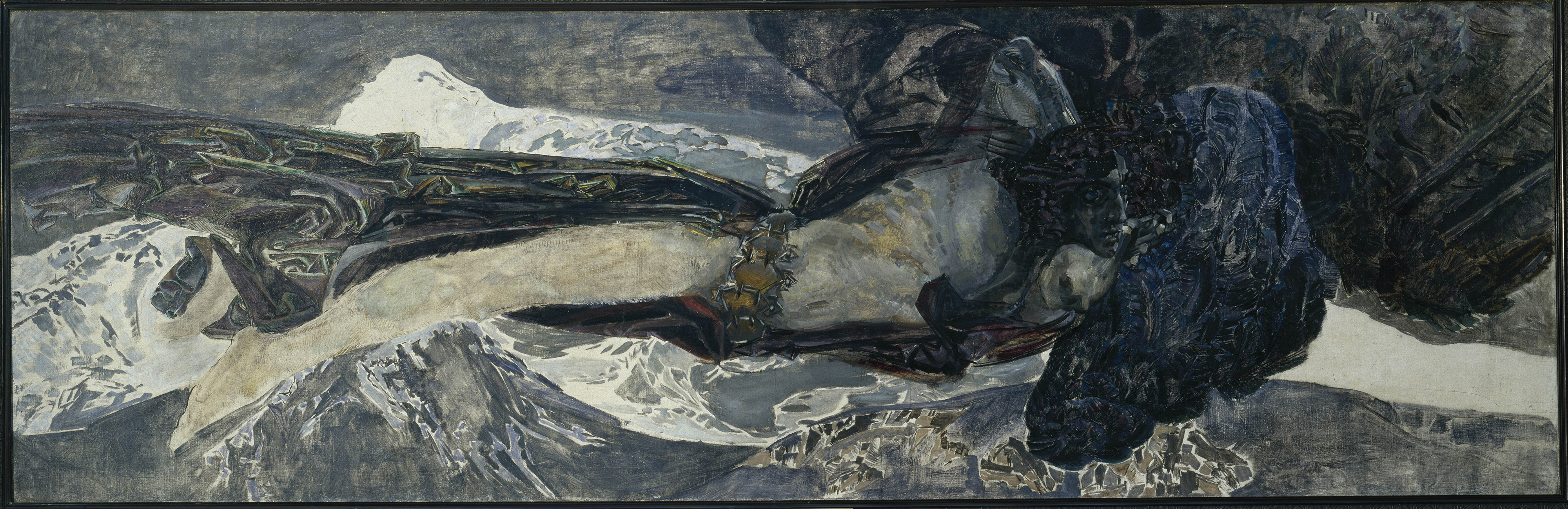 The Demon Flying, 1899 — Mikhail Vrubel,