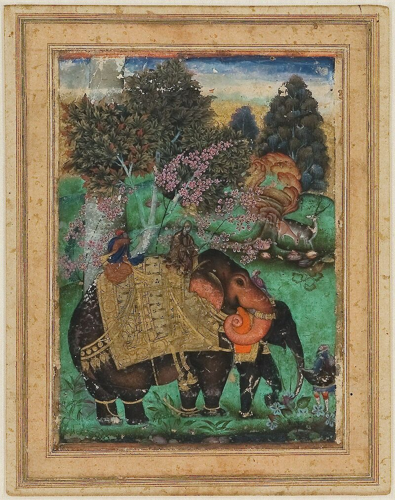 Sultan Ibrahim Adil Shah II Riding His Prized Elephant Atash Khan
