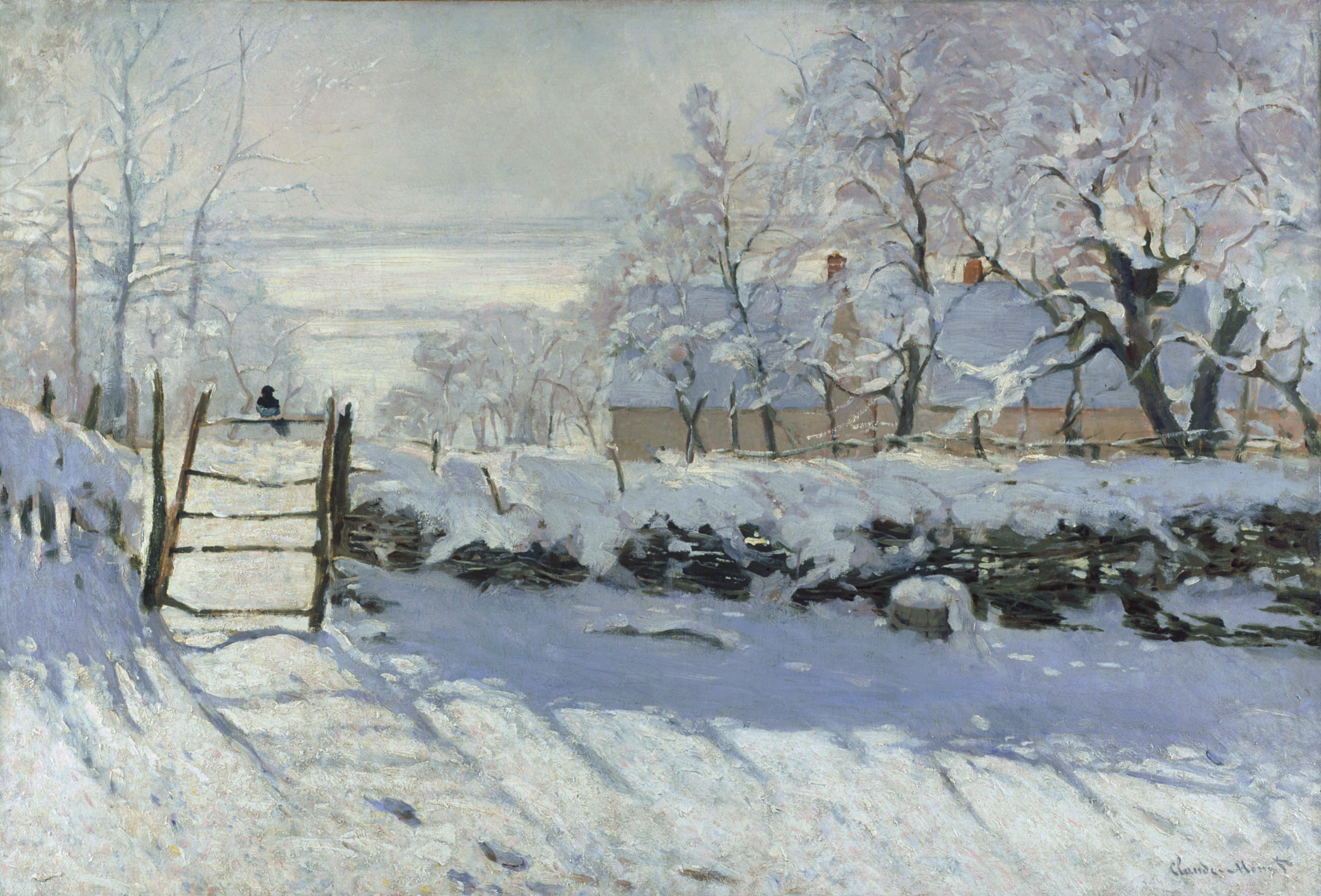 The Magpie, 1869 — Claude Monet