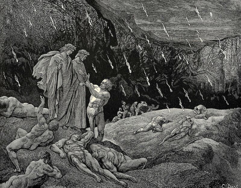 The Inferno, Canto 15, 1861, Gustave Doré