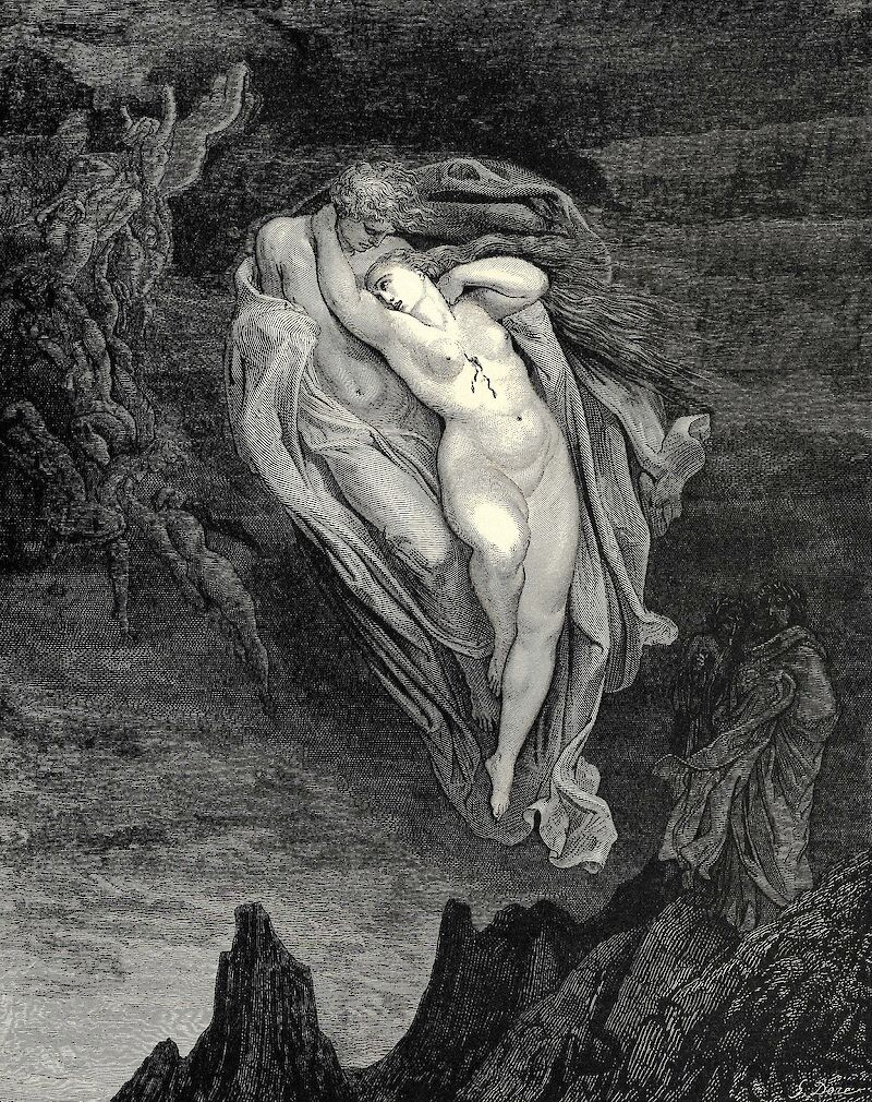 The Inferno, Canto 5, 1861, Gustave Doré