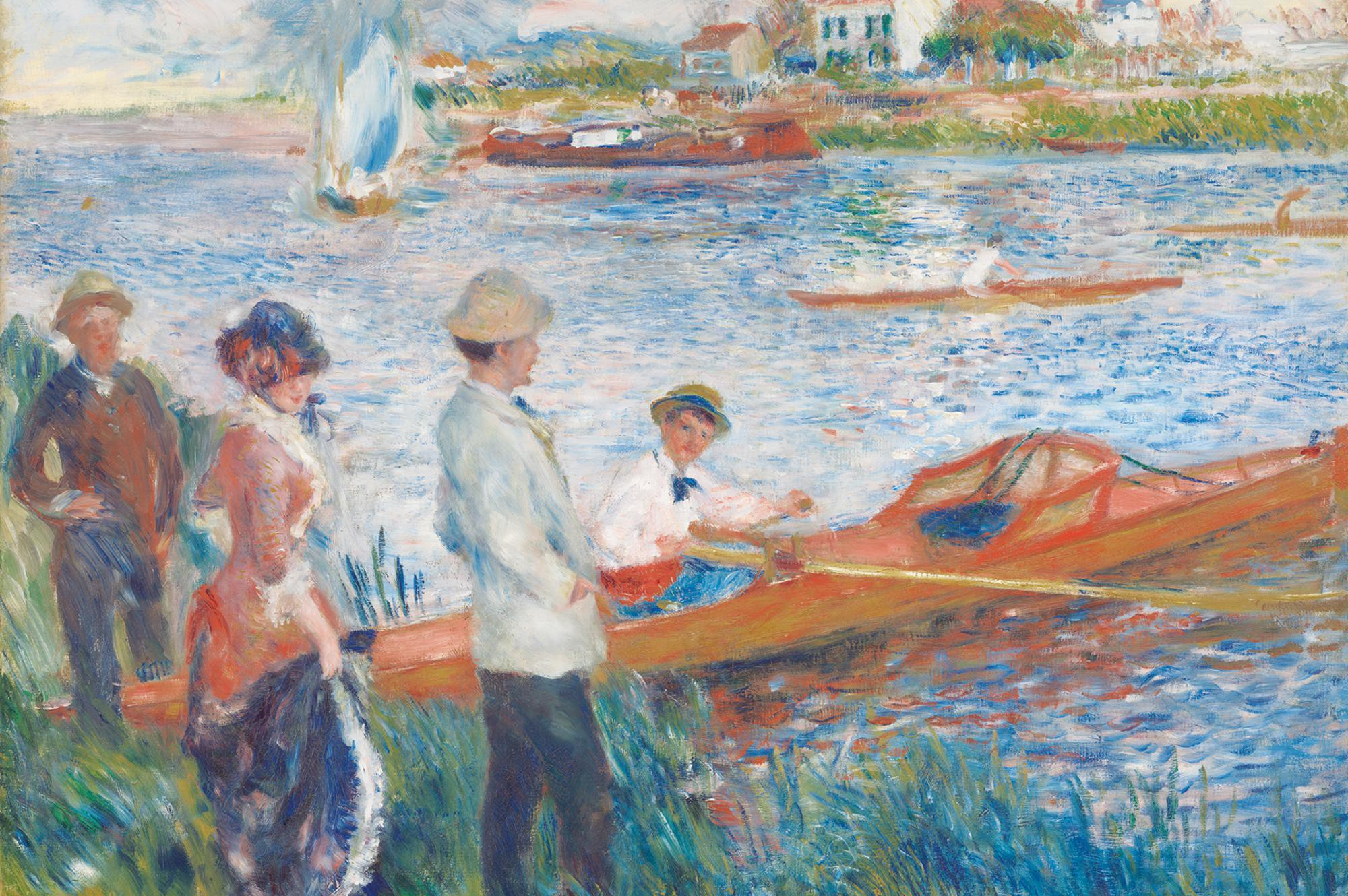Oarsmen at Chatou, 1879 — Pierre-Auguste Renoir, National Gallery of Art