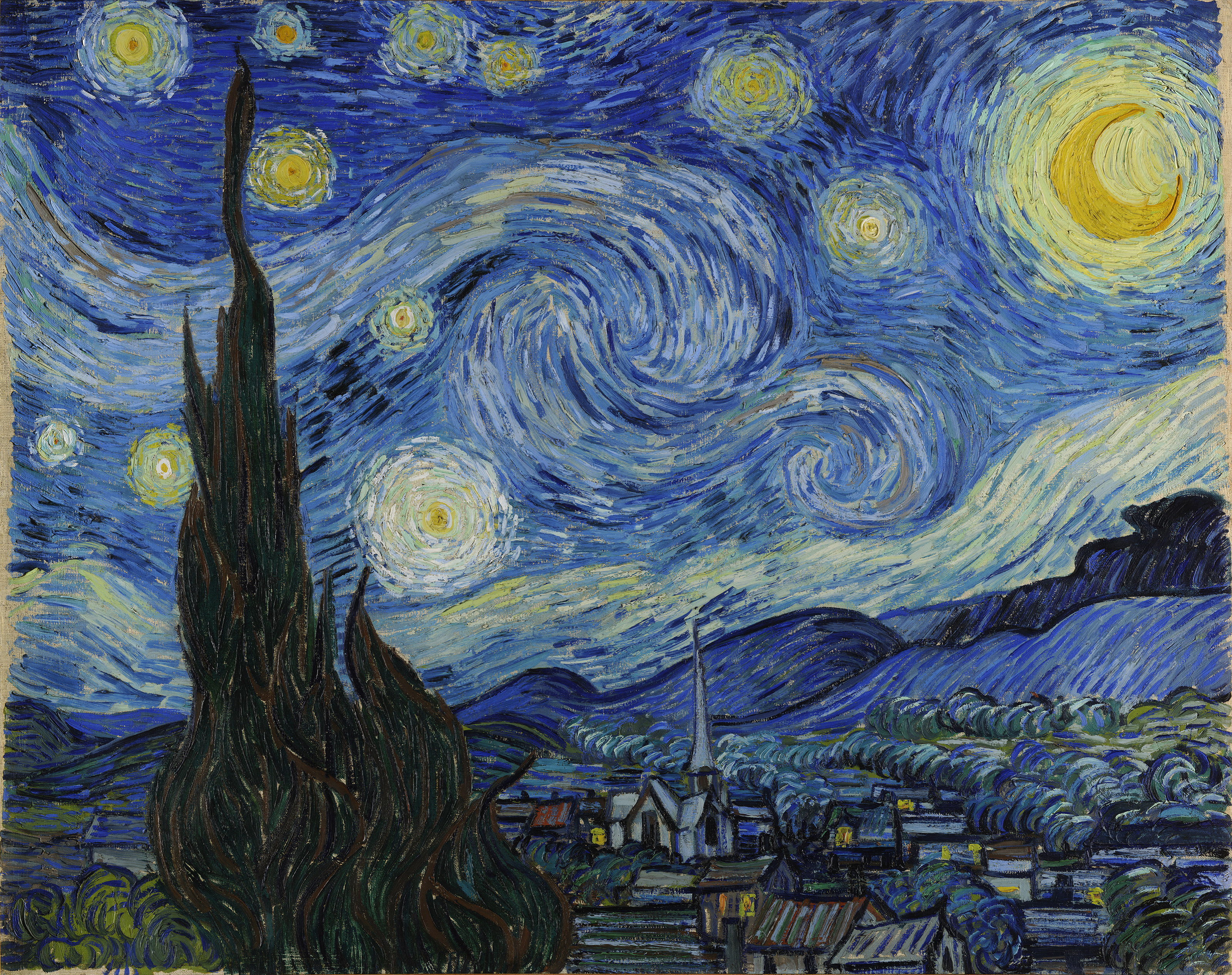 The Starry Night, 1889 — Vincent Van Gogh,