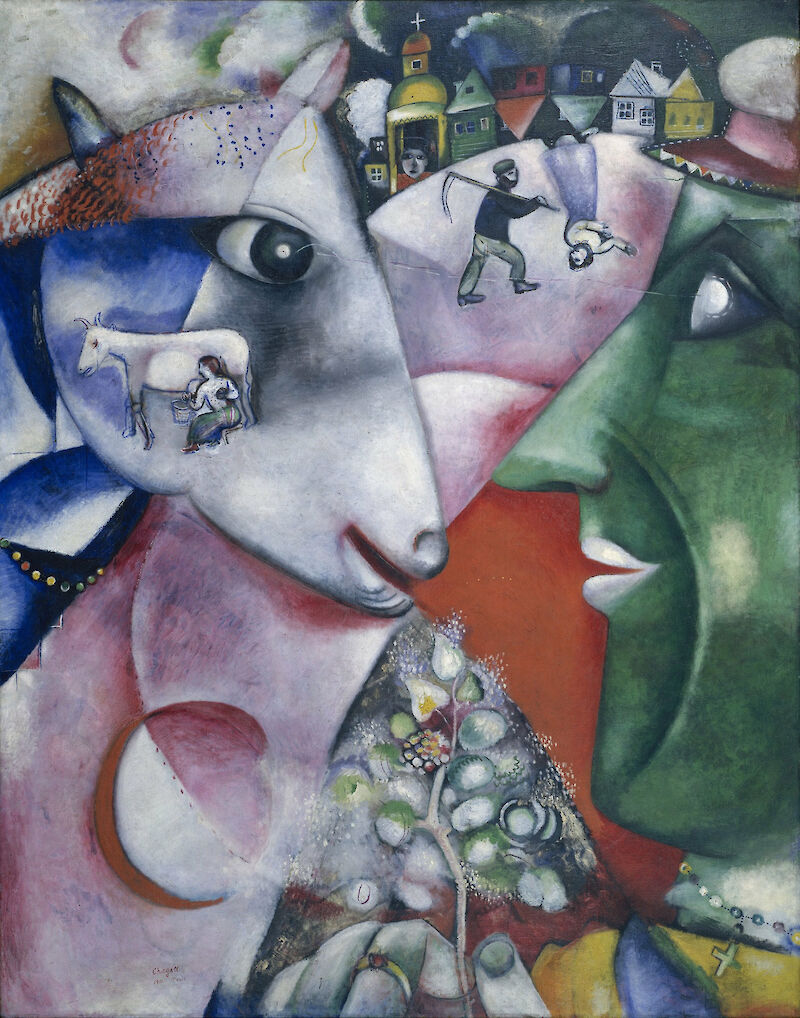 I and the Village, 1911, Marc Chagall