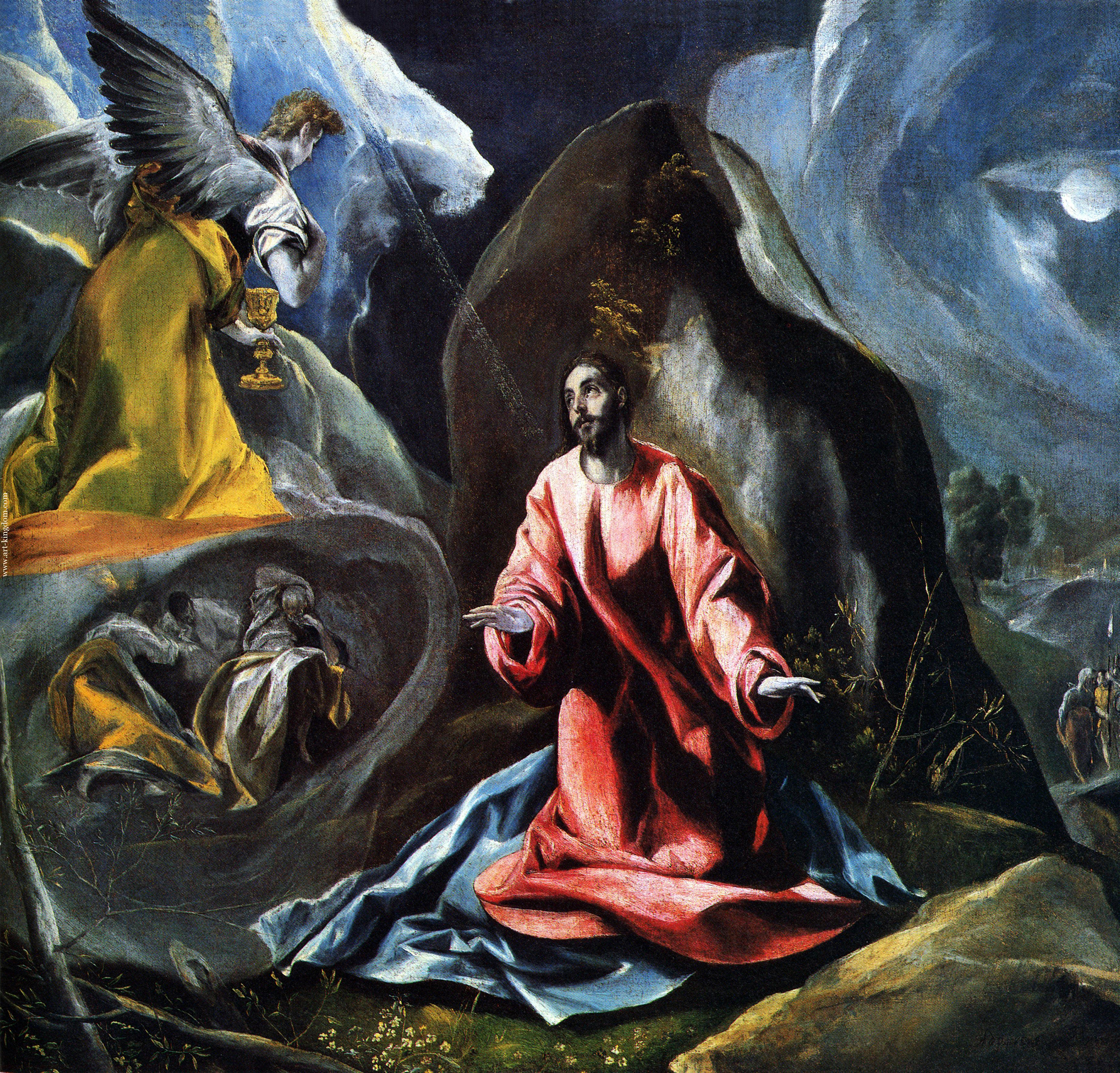The Agony in the Garden, 1595 — El Greco