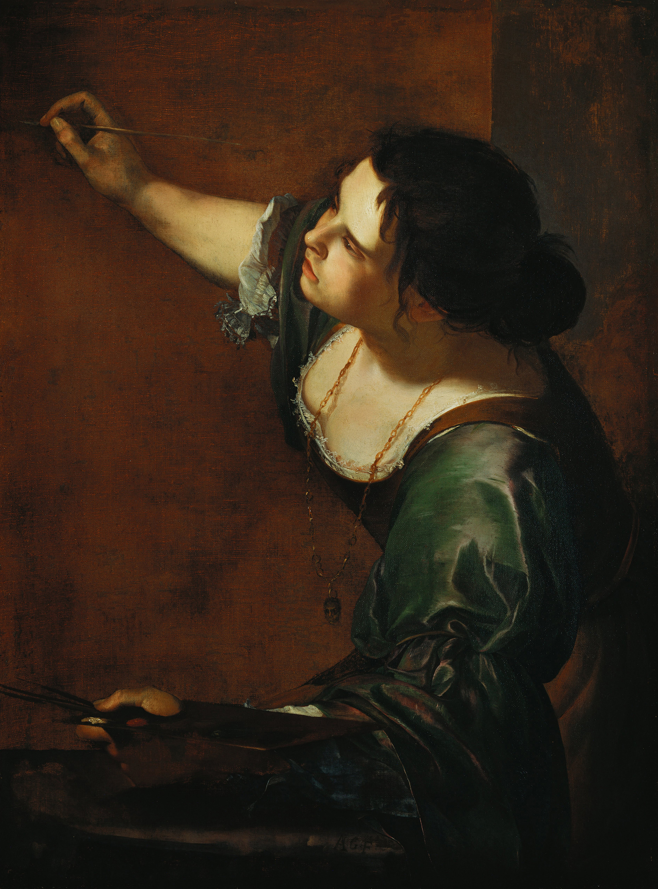 Self-portrait as the Allegory of Painting, 1638 — Artemisia Gentileschi