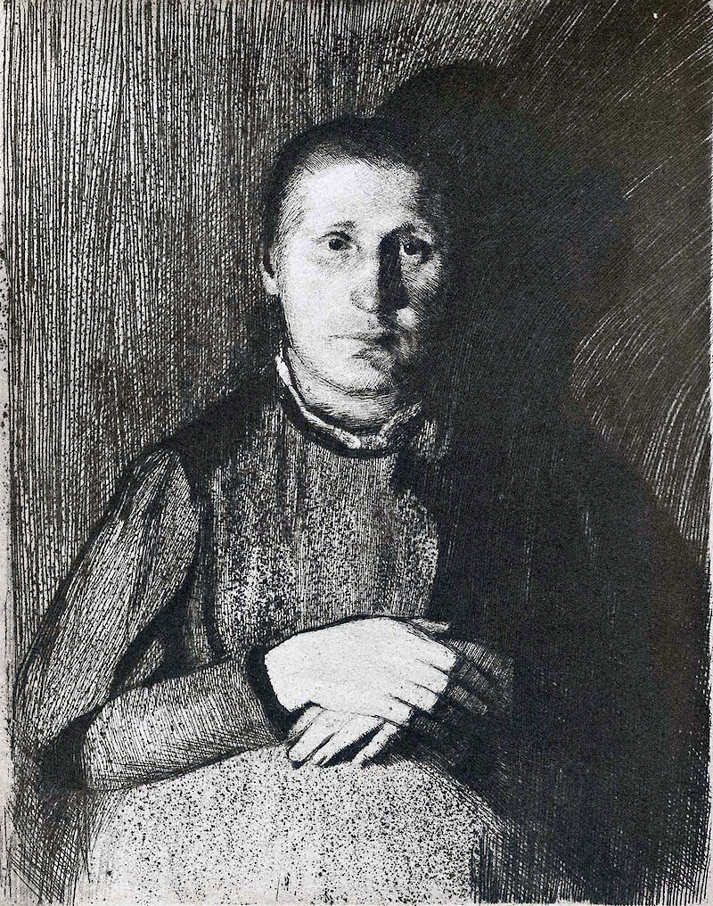 Pregnant Woman with Folded Hands