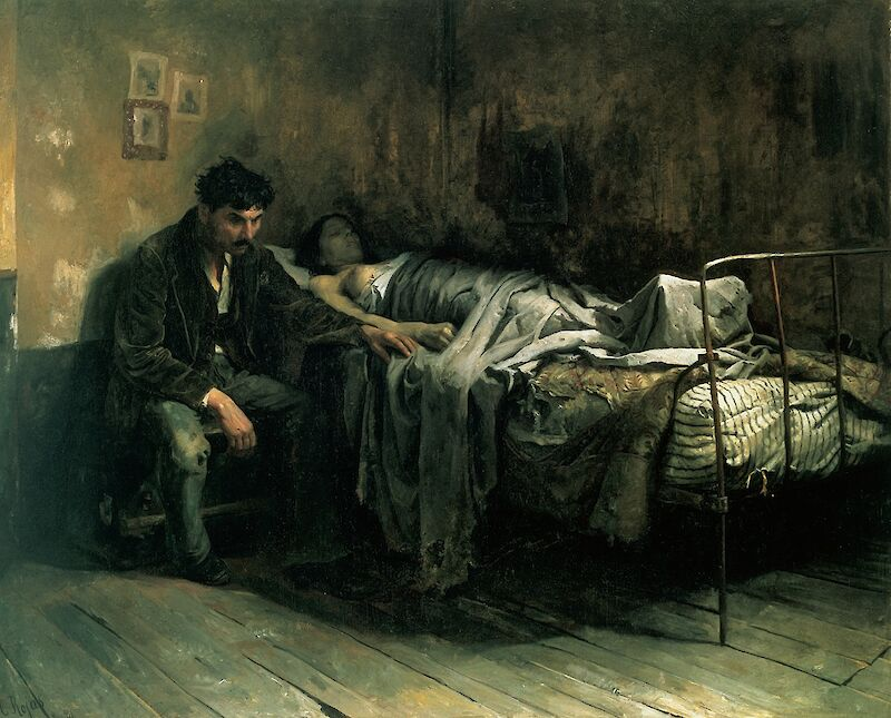 The Misery, 1886, Cristóbal Rojas Poleo