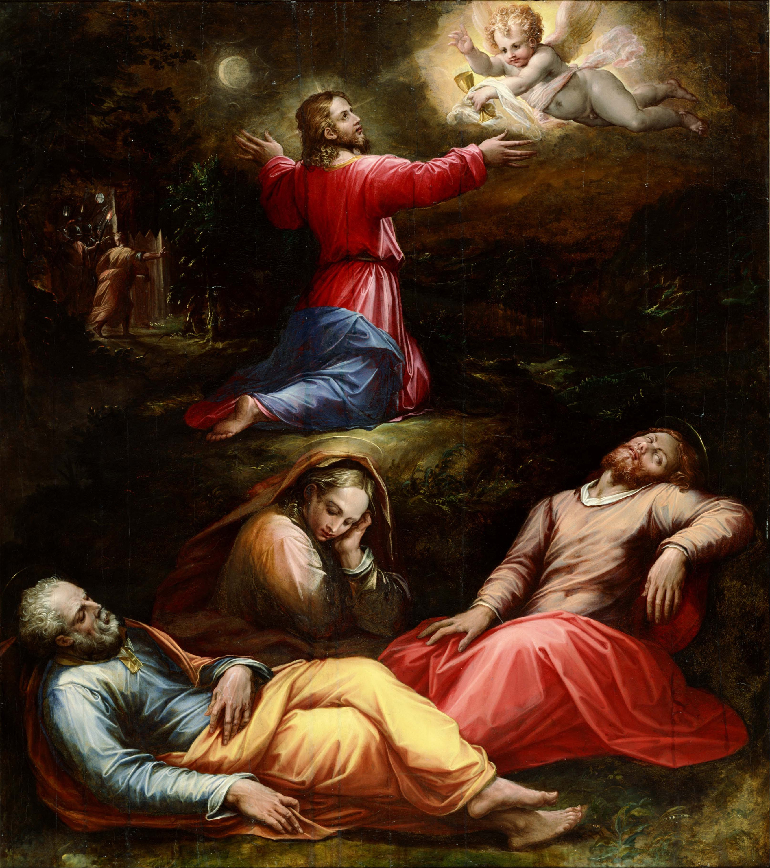 The Garden of Gethsemane, 1570 — Giorgio Vasari, National Museum of Western Art, Tokyo