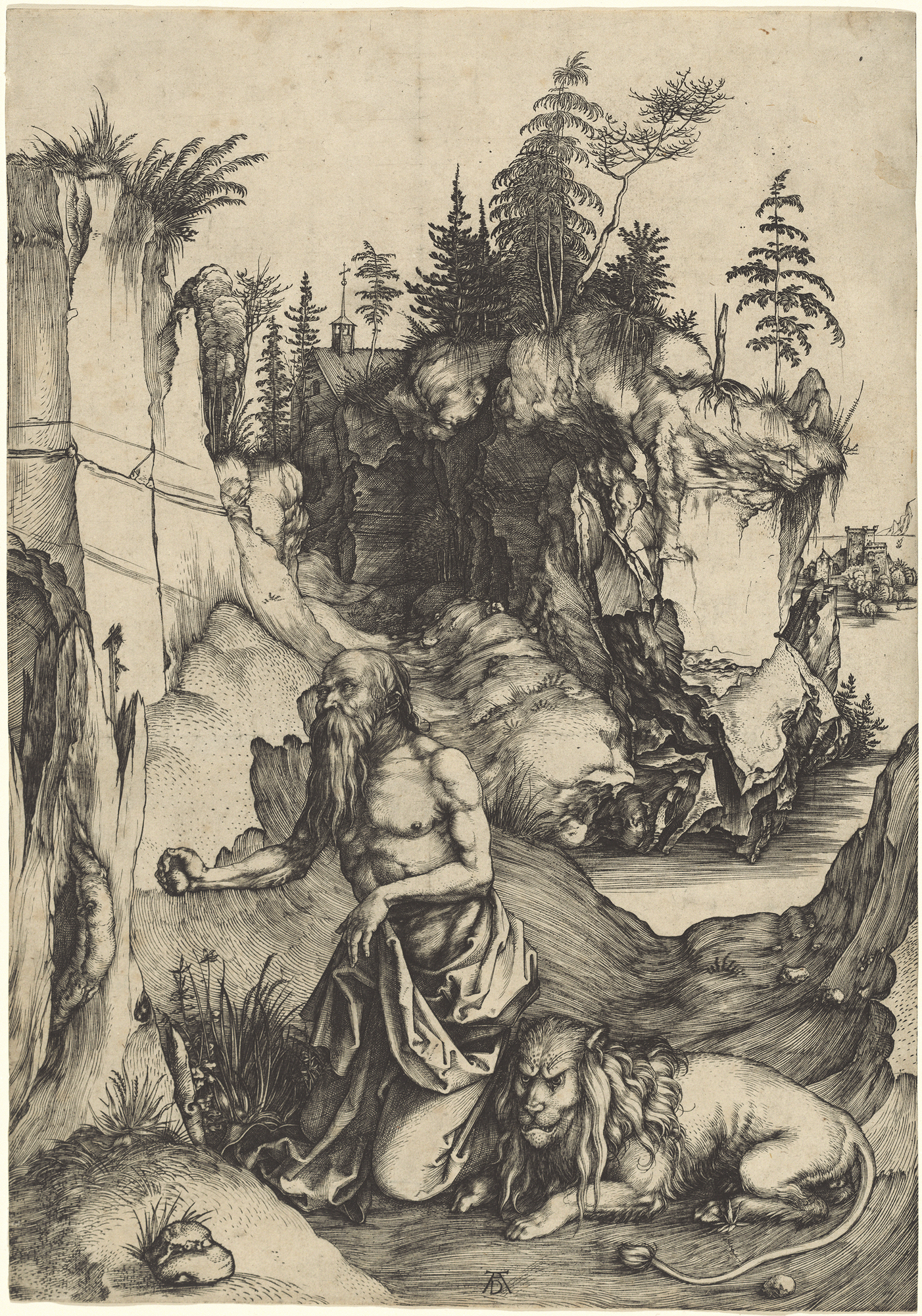 Saint Jerome Penitent in the Wilderness, 1496 — Albrecht Dürer