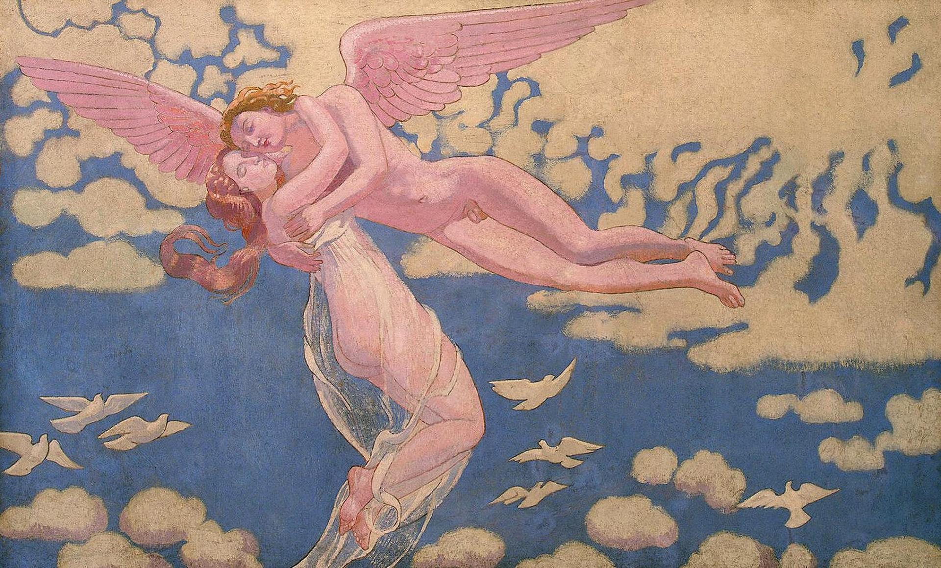 Psyche Panel 7 — Cupid Carrying Psyche Up to Heaven, 1908 — Maurice Denis,