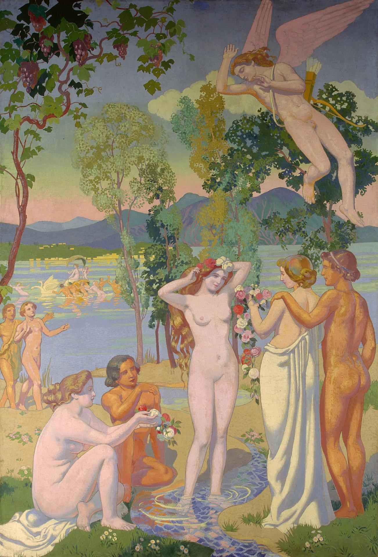 Psyche Panel 1 — Eros is Struck by Psyche's Beauty, 1908 — Maurice Denis