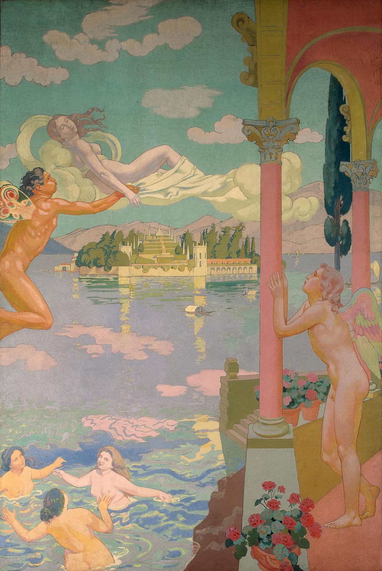 Psyche Panel 2 — Zephyr Transporting Psyche to the Island of Delight, 1908 — Maurice Denis,