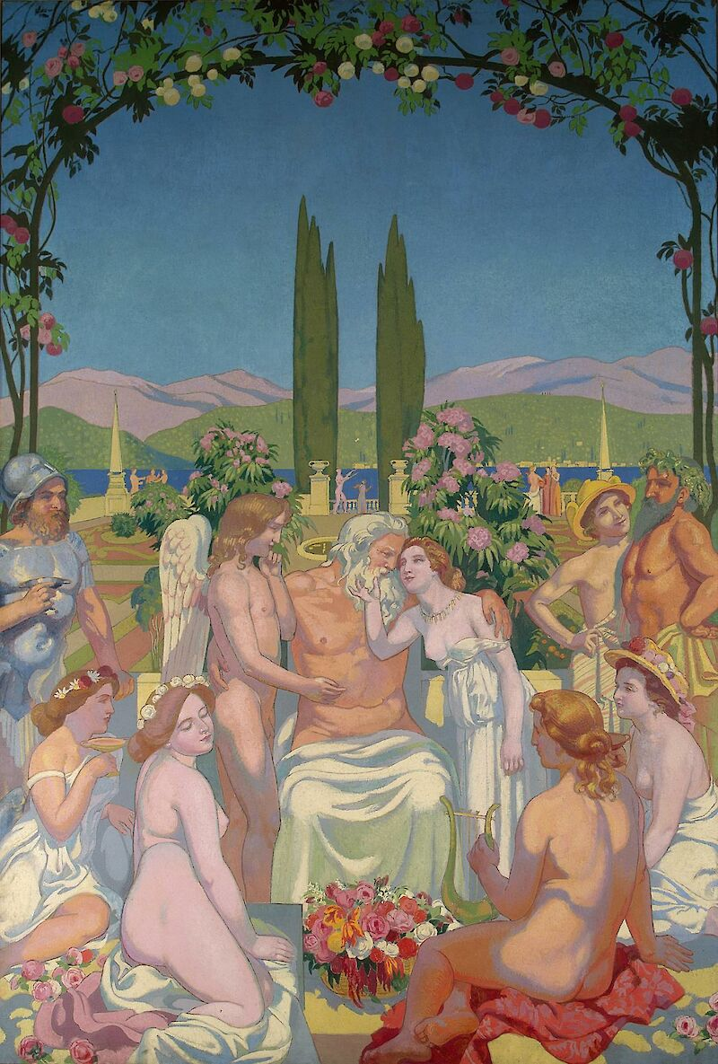 Psyche Panel 5 — Jupiter Bestows Immortality on Psyche, 1908, Maurice Denis