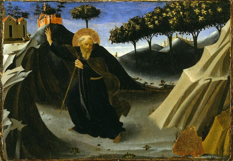 Saint Anthony Tempted by a Lump of Gold, 1436, Fra Angelico