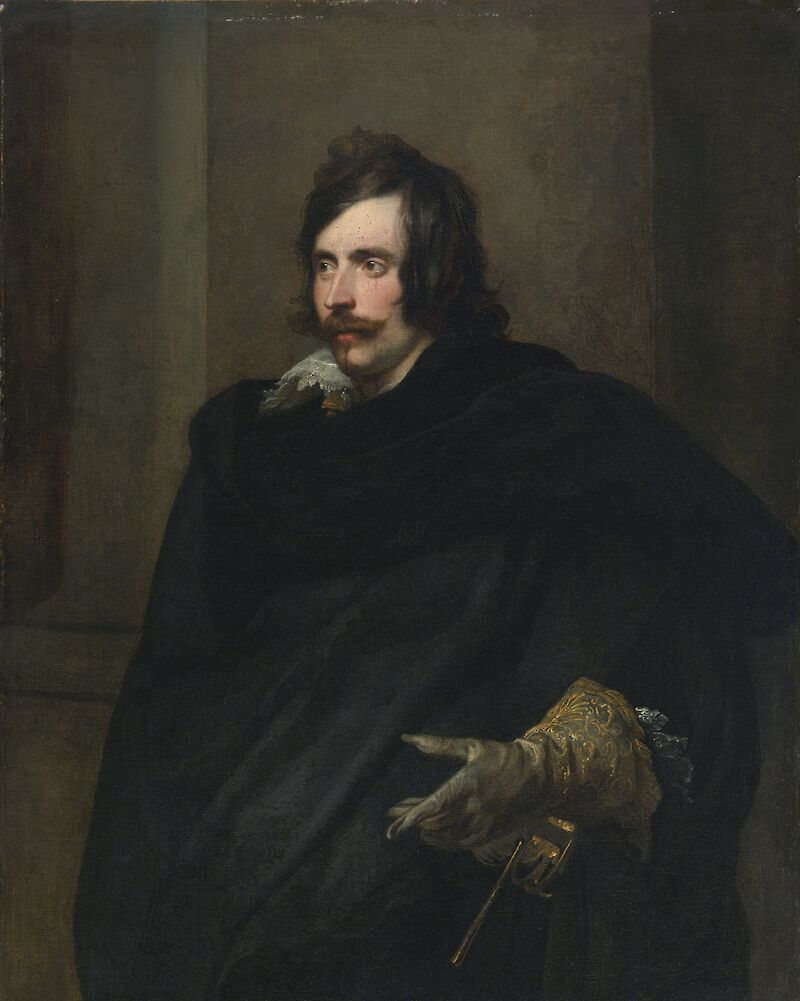 Portrait of a Man with a Gloved Hand