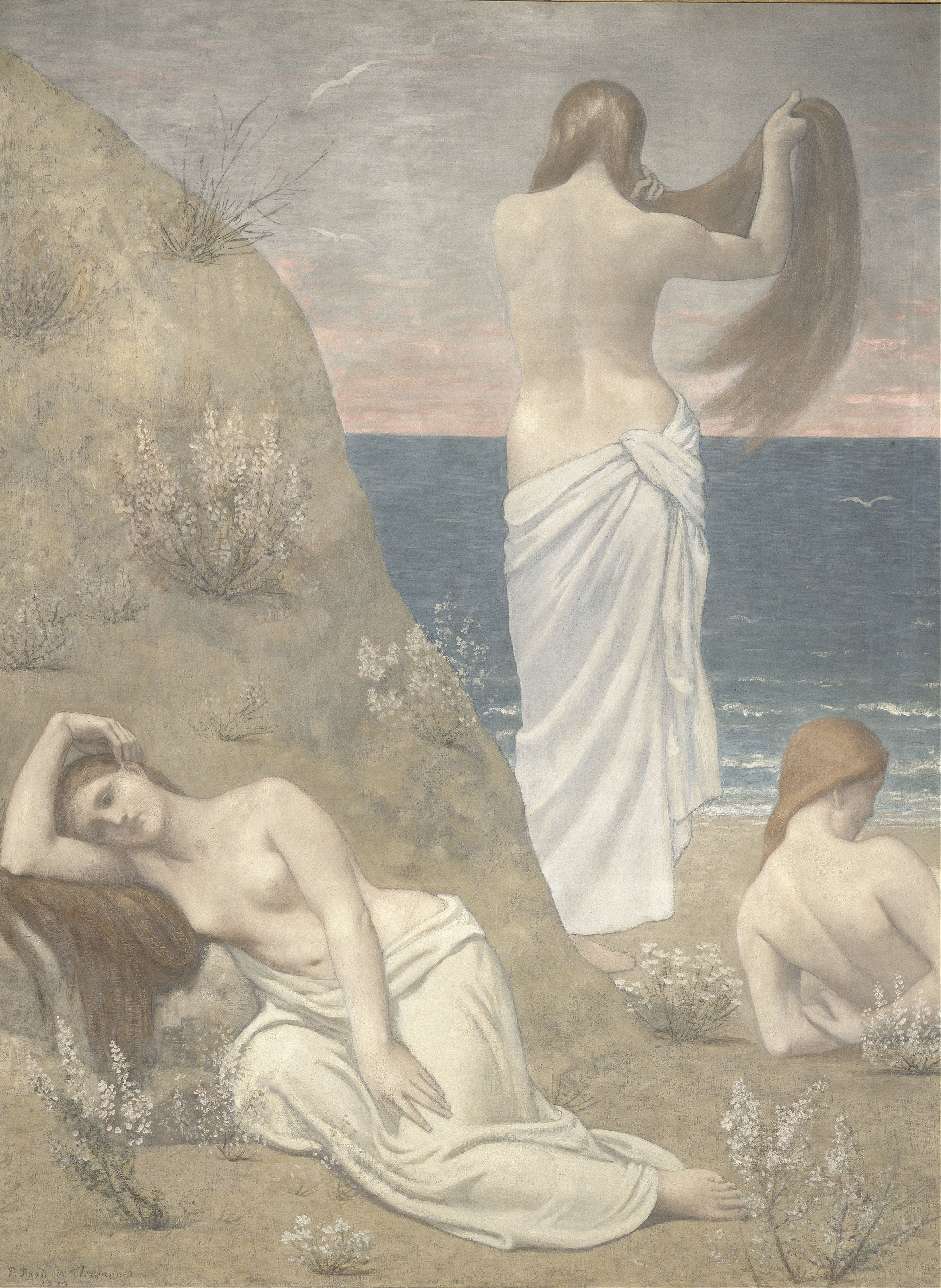 Young Girls by the Seaside, 1879 — Pierre Puvis de Chavannes