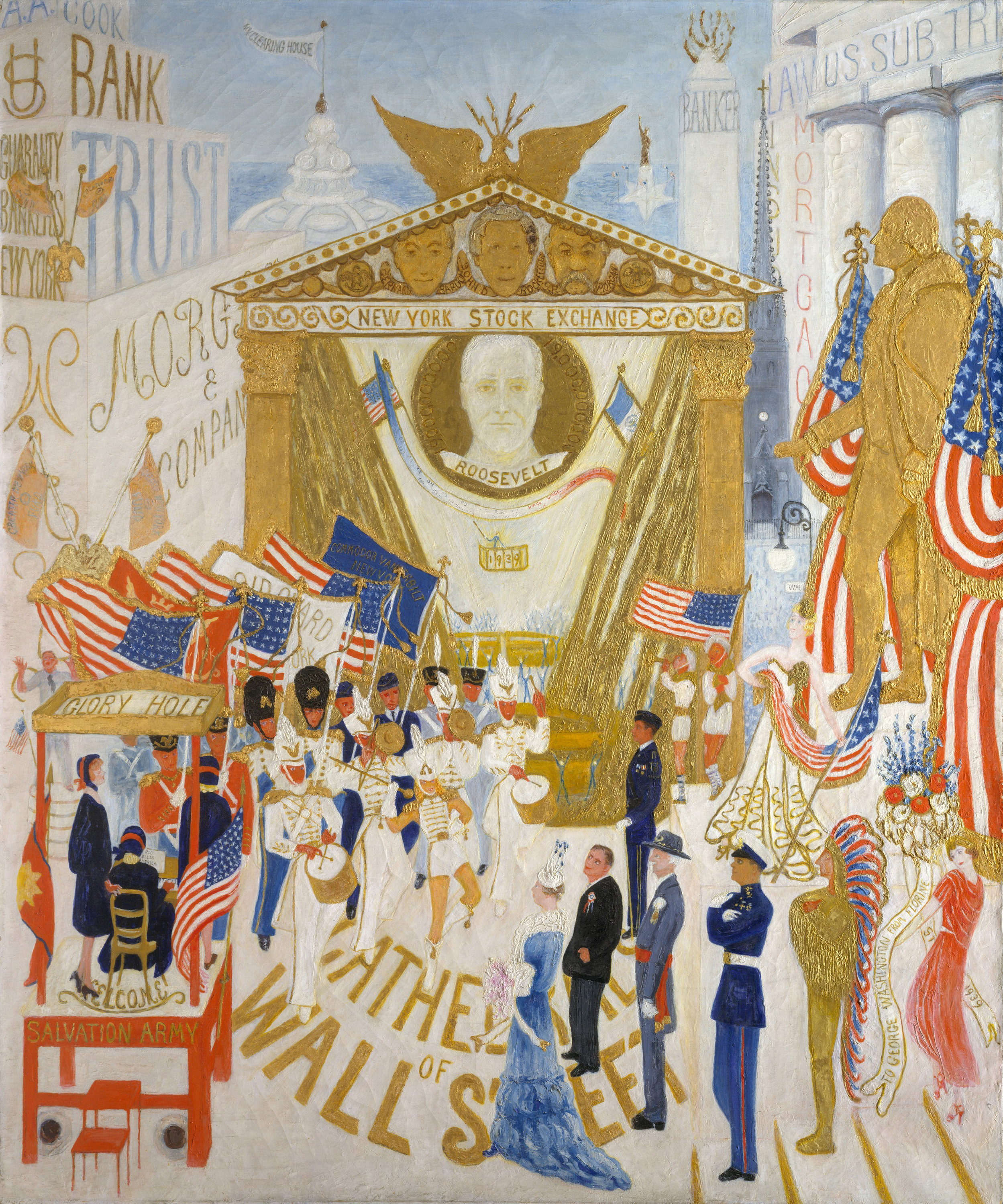 The Cathedrals of Wall Street, 1939 — Florine Stettheimer