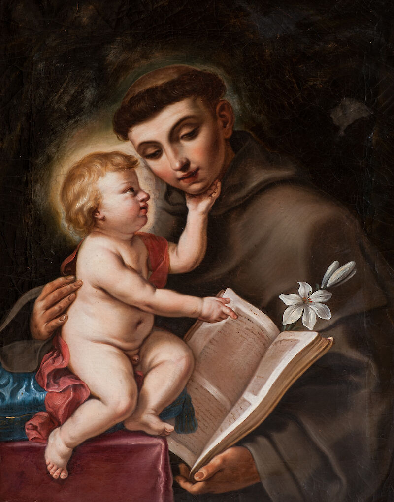 Baby Jesus and St. Anthony of Padua