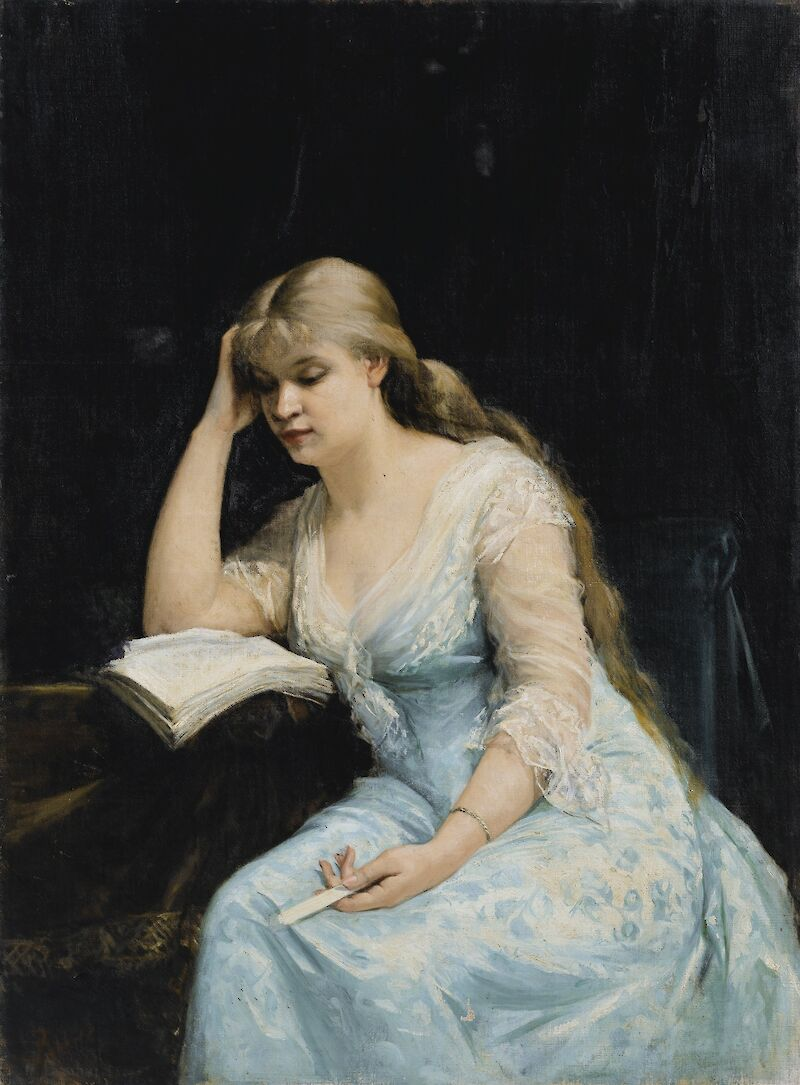 A Young Woman Reading