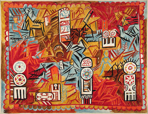 Curtain for Le Coq d'Or: Third Act