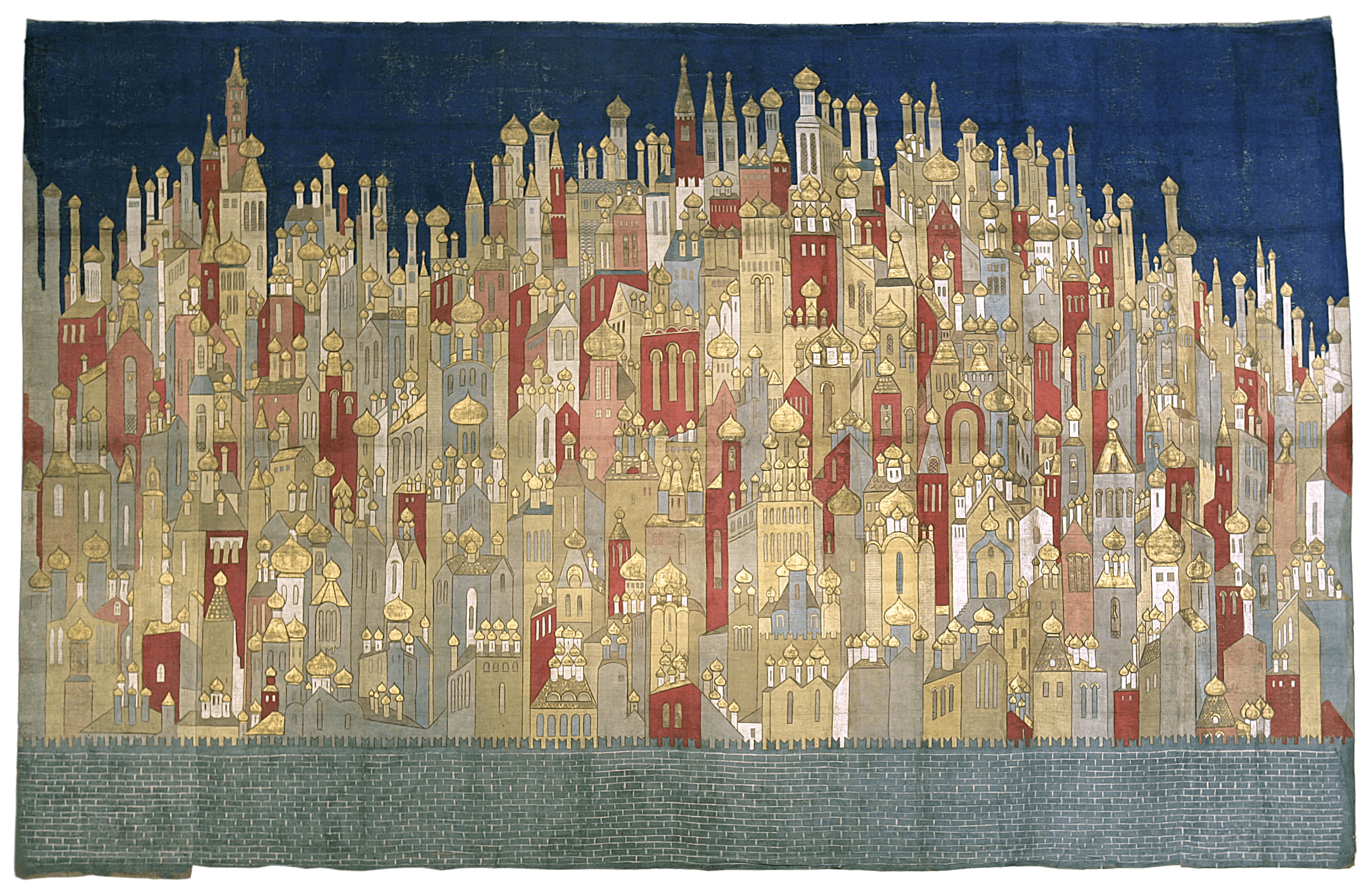 Coronation backdrop for 'The Firebird', 1926 — Natalia Goncharova