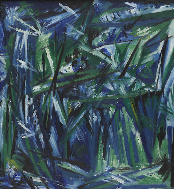 Rayonism, Blue-Green Forest