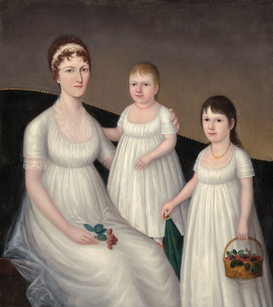 Grace Allison McCurdy and her Daughters, Mary Jane and Letitia Grace, 1806 — Joshua Johnson