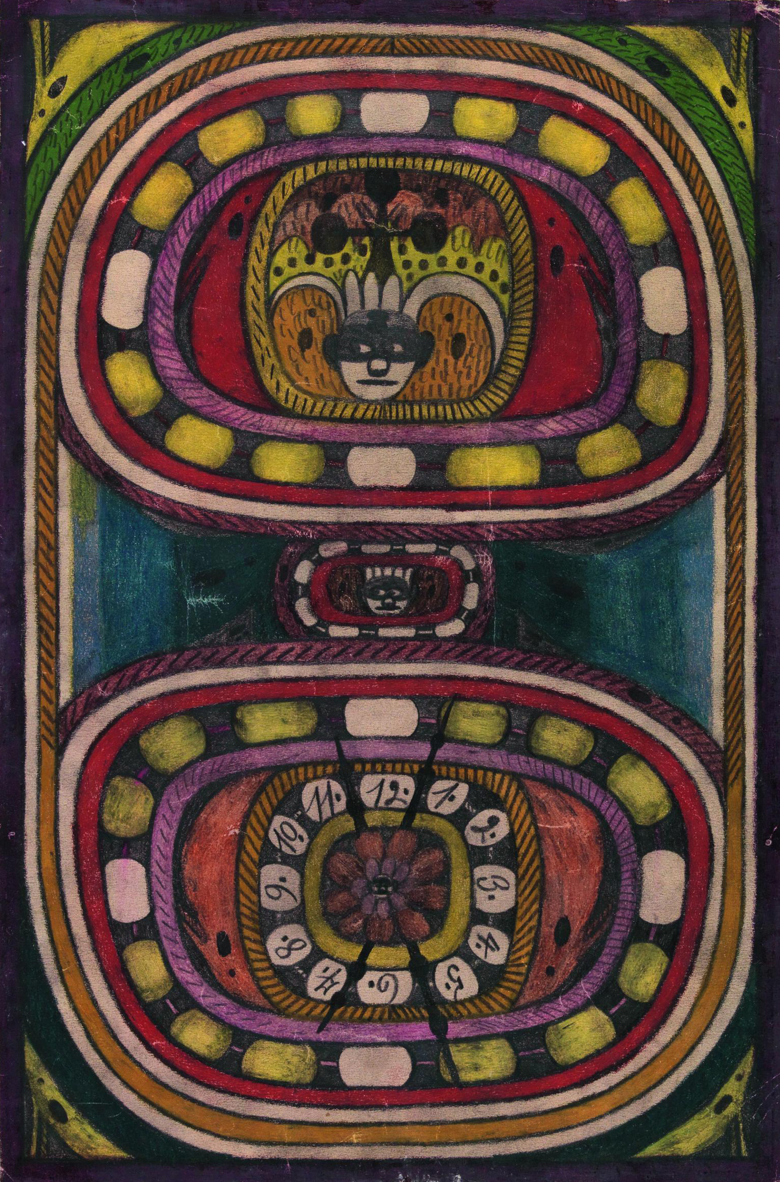 Cleopatra — St. Adolf-Ring, Giant City in India, 1915 — Adolf Wölfli, Prague City Gallery