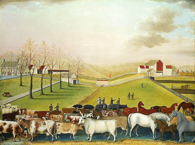 The Cornell Farm, 1848, Edward Hicks